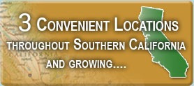 3 Convenient Locations Throughout Southern California and Growing